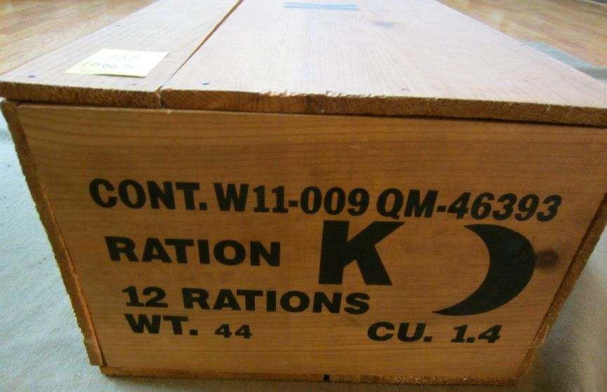 Nos K Ration Crate On Ebay Real Or What U S Militaria Forum