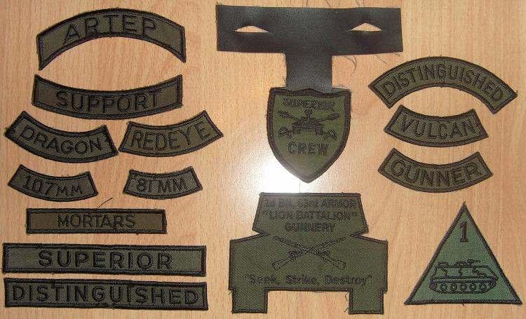 35th Armor w//QUALIFICATION TCQC tab Army TCQC Patch TAB ONLY 4th Bn